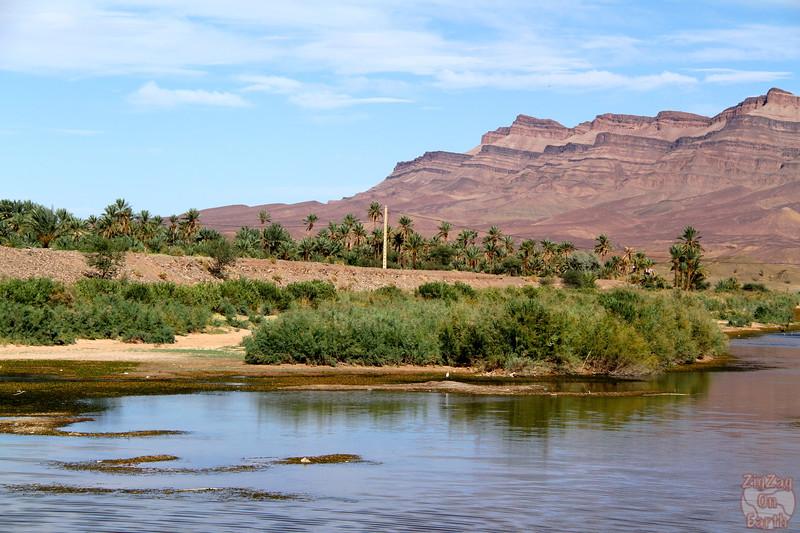 Draa valley purple mountains, Morocco