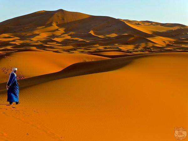 Berber in Sahara sand dunes