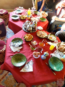 Hearty Moroccan breakfast