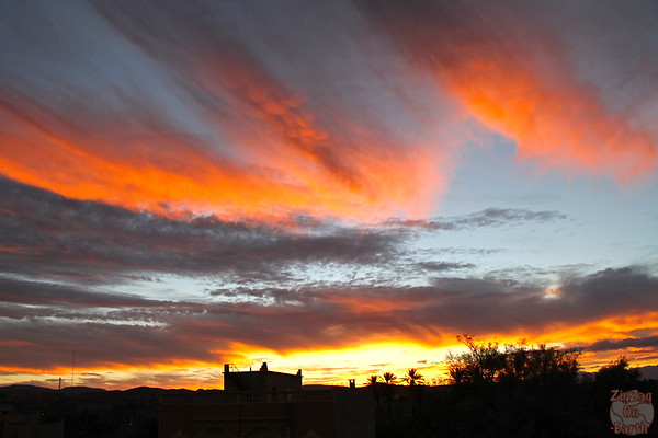 Ouarzazate painted sunset
