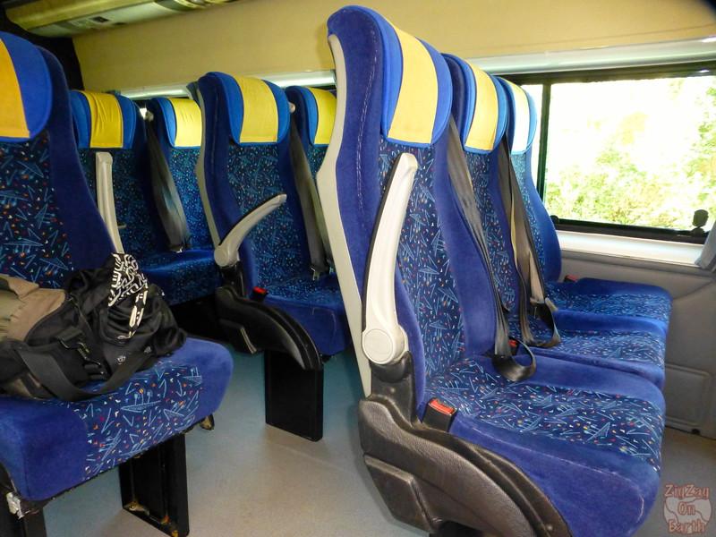 Review Nomadic Tour - minibus inside