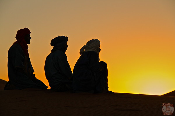Sunrise with Berbers in the Sahara Morocco 1