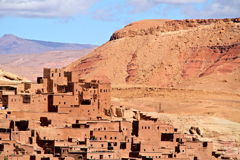 Views of Ait Benhaddou from the road, Morocco 2