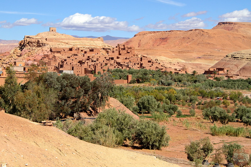Views of Ait Benhaddou from the road, Morocco 1