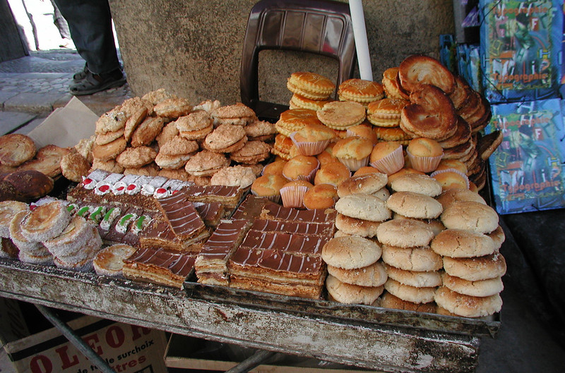 Yummy pastries from a street vendor
