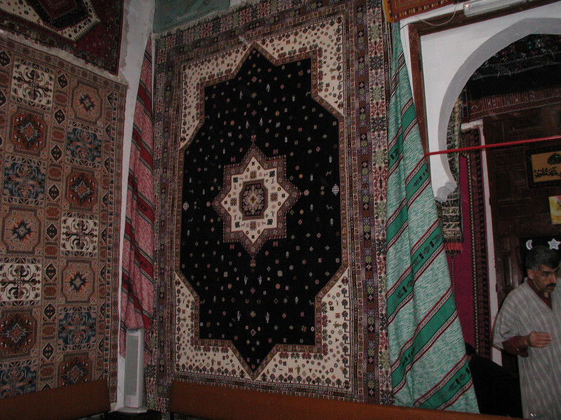 Carpets are on of Morocco's better known exports. Claimed to be wool & silk ... buyers should take extra care with the vendor's claims.