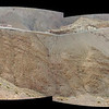 Composite photo showing the road winding along a ridge