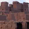 Ancient mud walls slowly decaying
