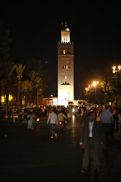 Koutubia Mosque, tallest building in the old city Medina