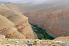 We have to leave the Dades Gorge for a while to pass over this steep walled canyon