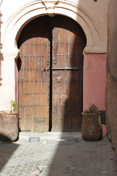 Beautifull door were originally built as protection from robbers