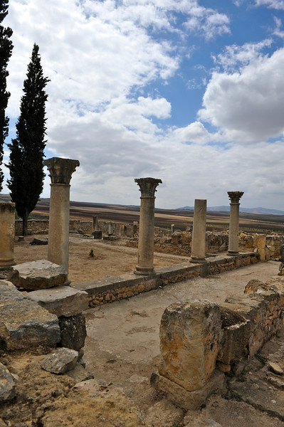 Volubilis. Apparently, one of its kings, Juba the 2nd was married to a Cleopatra, daughter of THE Cleopatra & Mark Anthony