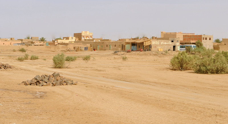 "Merzouga, described as "" a scruffy little town on the edge of nowhere"""