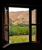 View from our room overlooking a small farm in the Dades Valley
