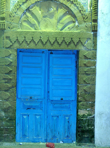Most doors in Morocco  are multi-coloured works of art