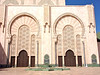 Hassan 2 Mosque, 3rd largest in the world. Note the size compared to the man in lower right. The tower is 200m (660 ft) high