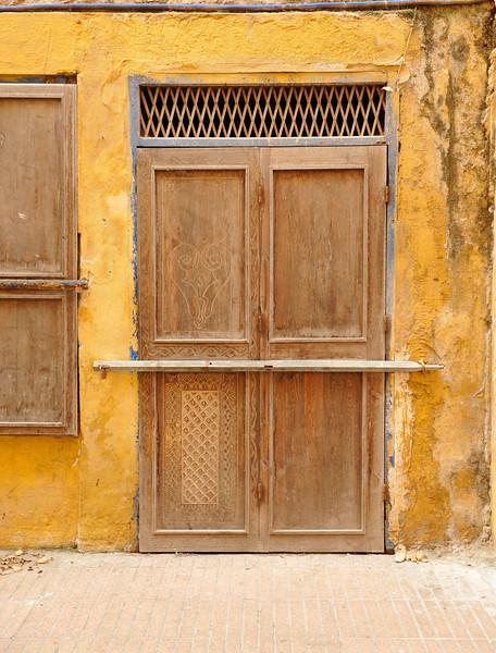 Shop door during Siesta