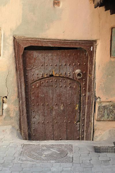 Basement door? The handle was below waist high