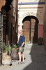 Marrakech side street away from the markets