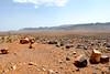 Going sout-east of Ouarzazate to the open Sahara, crossing  the rocky desert near D'jorbel S'horra (Sahara Mountain)