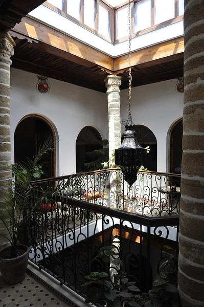 Courtyard mezzanine in our Essaouira hotel