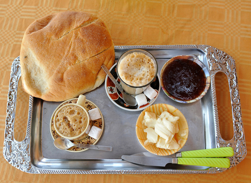 Typical cafe breakfast