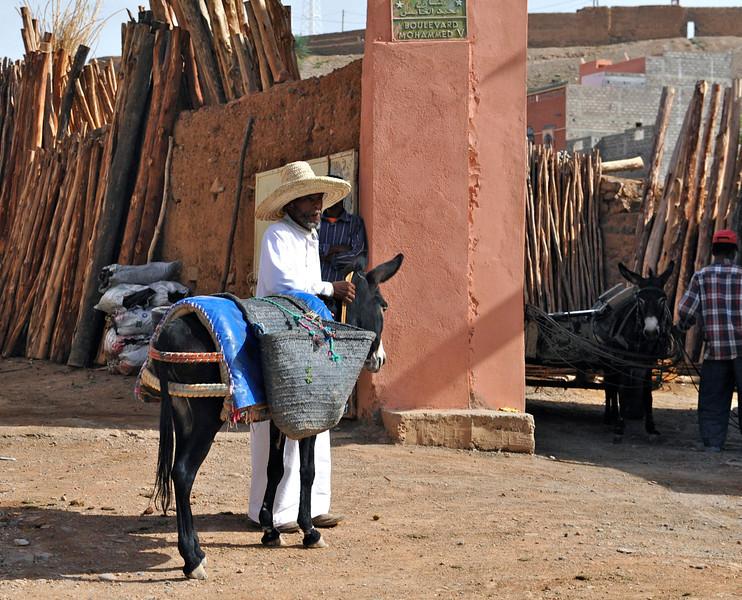 Moroccan lumber yard