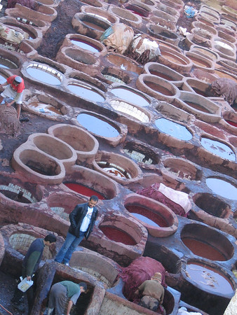Fez: the tanneries