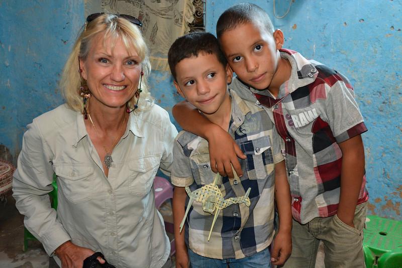 Loretta and the Boys, Rissani, Morocco