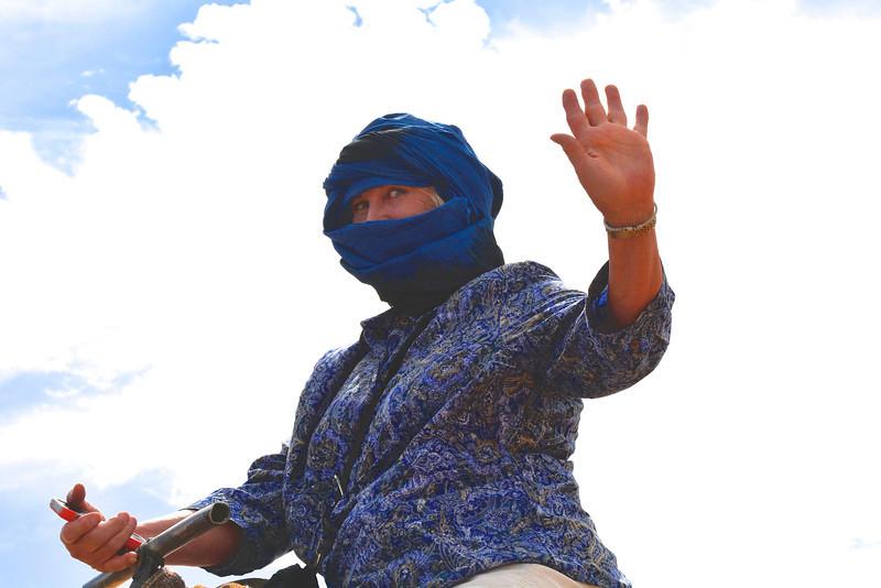 """""""Off I Go"""" says Meg, Sahara Desert, Morocco"""