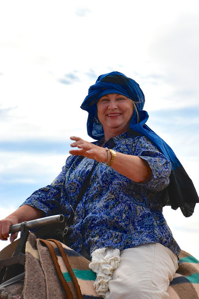 Meg is Ready To Ride, Sahara Desert, Morocco
