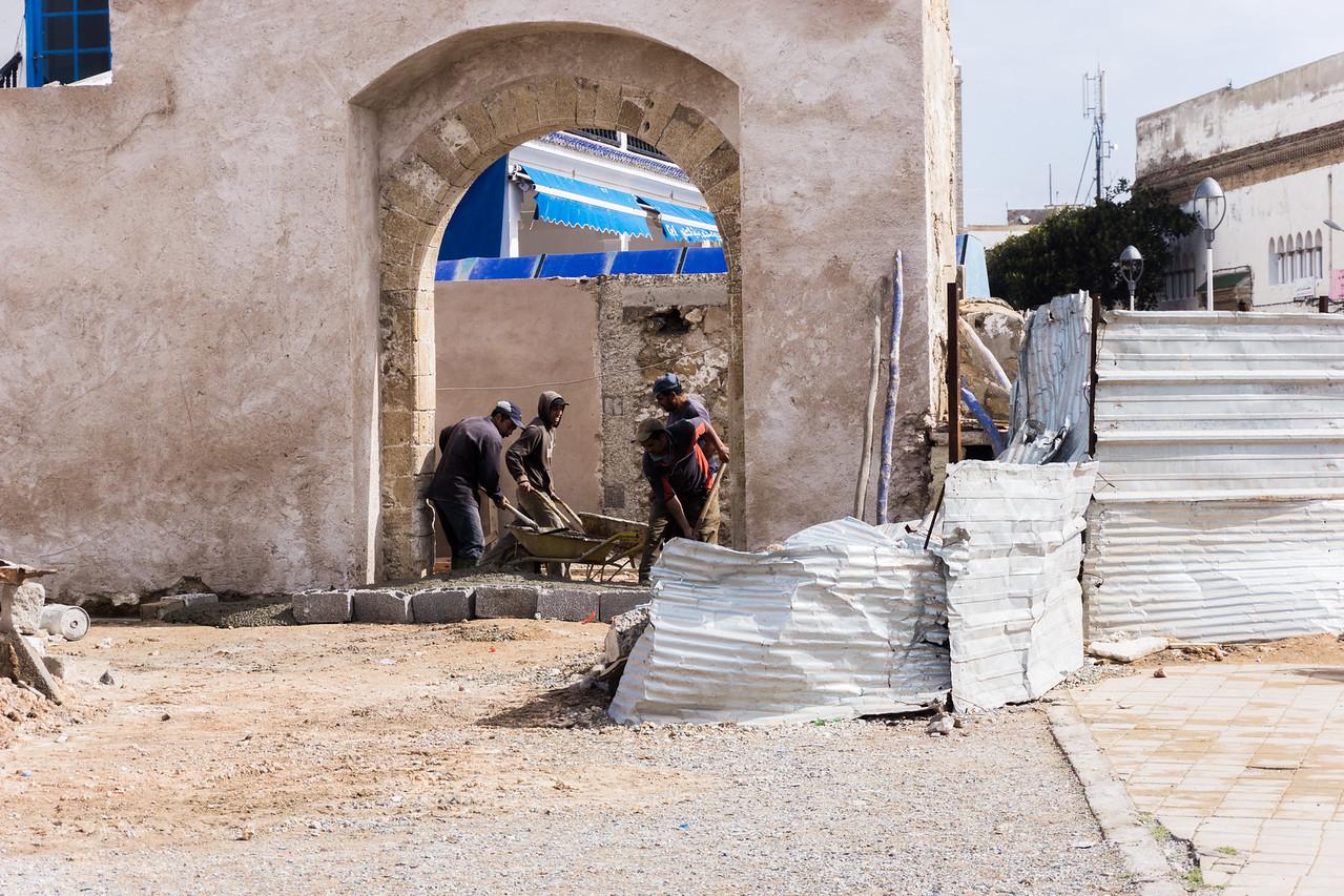 Construction work in Essaouira
