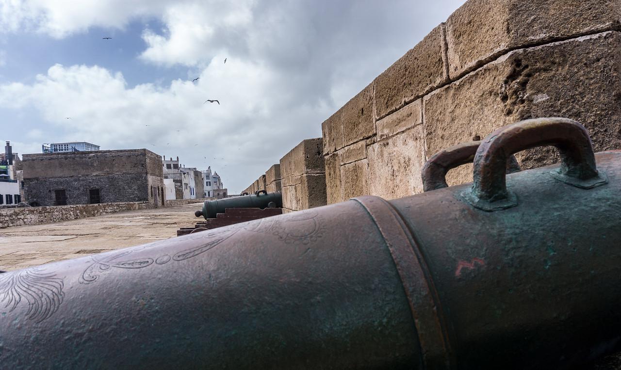 Cannons defending Essaouira