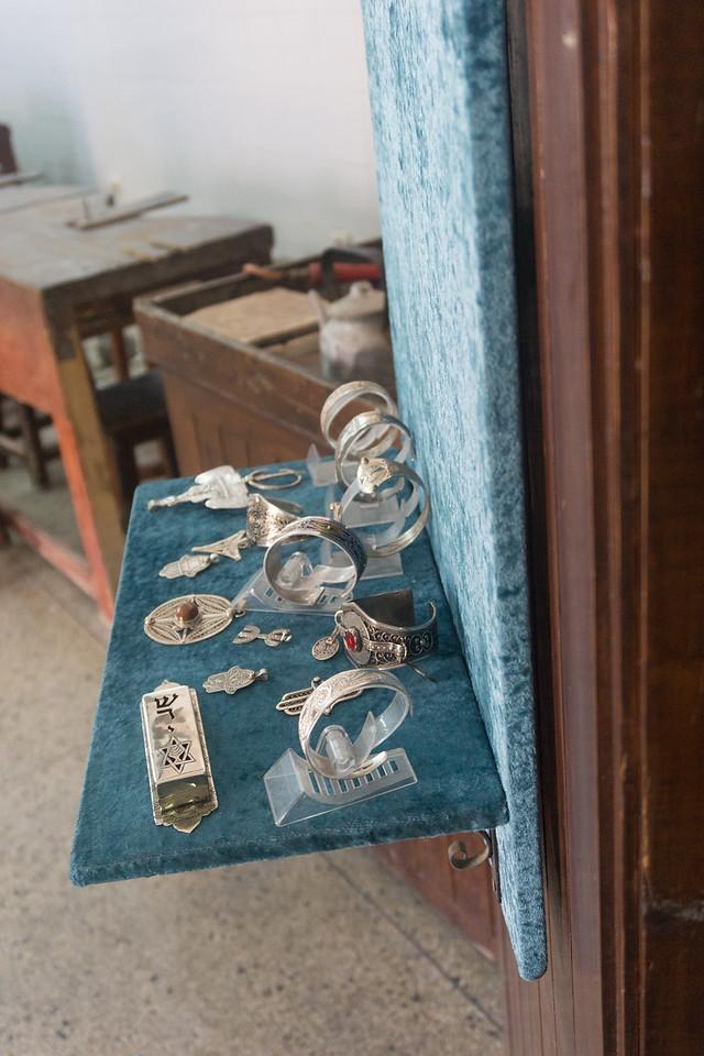 Wares in a silver shop