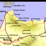Map of Northern Morocco showing the 3 cities we visited on this part of the trip.