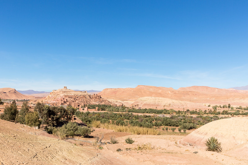 Distant Ait Benhaddou where films including Lawrence of Arabia and Jesus of Nazareth were shot.