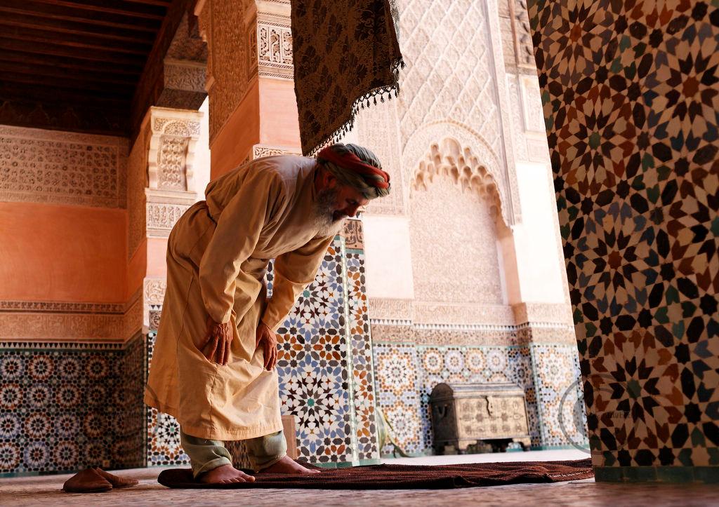 "Marrakech 07/05/07Tournage de ""Ali Baba"" ˆ la Medersa Ben Youssef ˆ Marrakech,avec GŽrard Jugnot©didierbaverel.com"