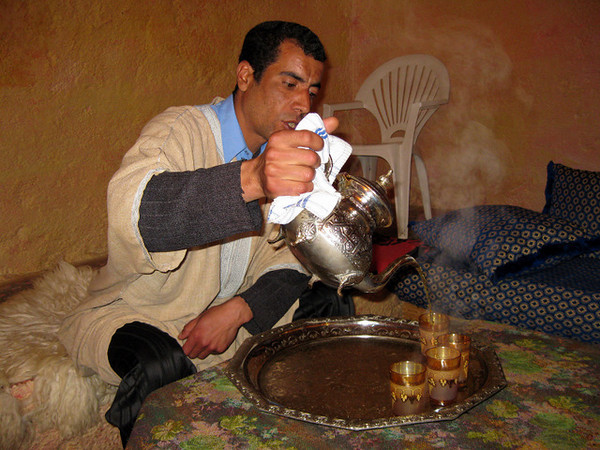 Mint tea , Bhalil cave house