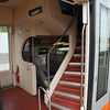 This train was a doubledecker. This is the entry to the first class, where we had a reservation..