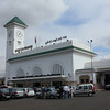 One of the train stations in Casablanca. This is 'Gare de Casa Voyageurs'