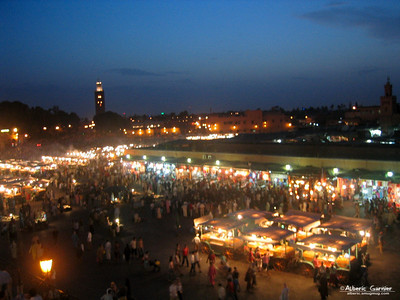 Marrakech - jemaa el fna by night