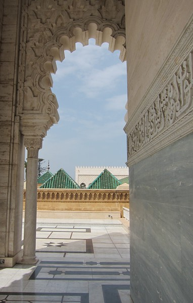 At Mausoleum of Mohammed V - Rabat, Morocco
