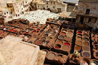The leather tannery in Fes.