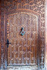 Intricately  carved door.