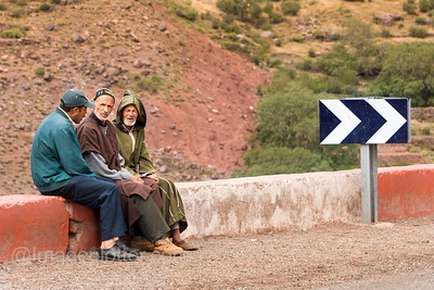 Men Chatting, Road to Ouazarzate, Morocco