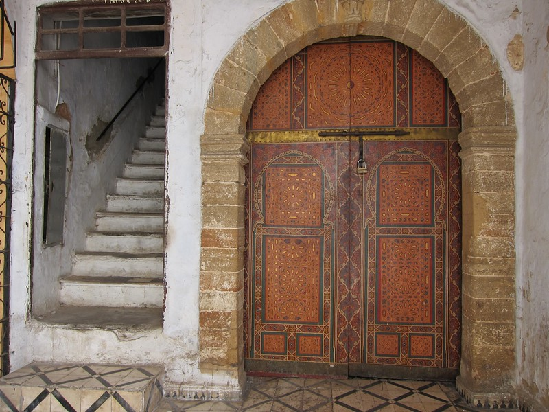 A doorway in the souk - Rabat, Morocco