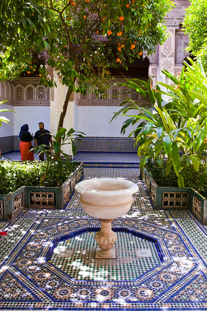 Courtyard in the Bahai Palace