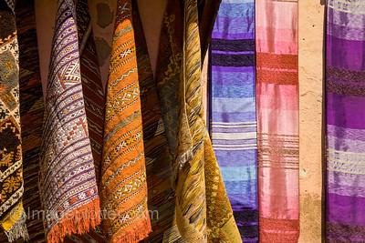 Fabrics in the Medina, Marrakech