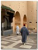 One of the gates of the Old City of Meknes, Morocco, During Eid el-Fitr The holiday that marks the end of the Ramadan.