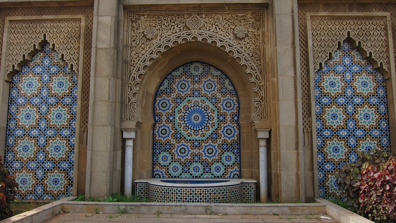 Water fountain at Mausoleum of Mohammed V - Rabat, Morocco